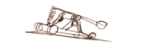 Une catapulte